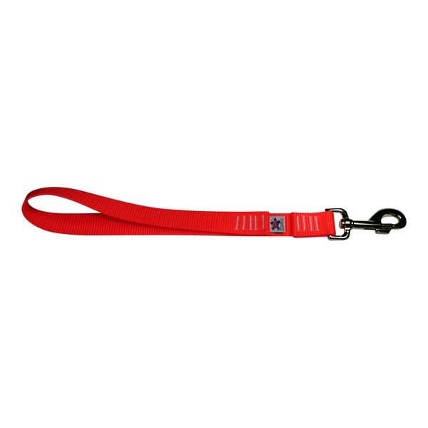 BM Nylon Dog Training Lead/Leash 12 Inch Flamin' Orange