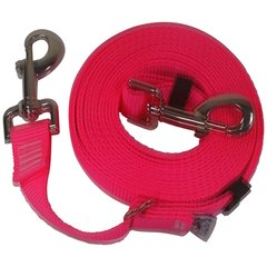 "Beast-Master Adjustable 1"" Nylon Dog Tether (Medium Dogs) Hot Pink"