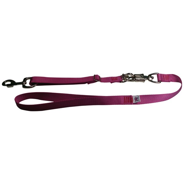 Tactical Quick Release Heavy Duty Panic Snap Adjustable Dog Leash Rose