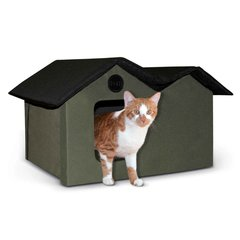 Heated Outdoor Kitty House Extra Wide