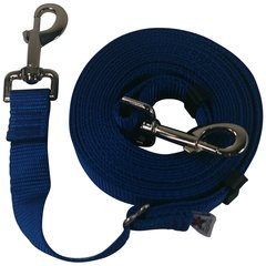 "Beast-Master Adjustable 1"" Nylon Dog Tether (Medium Dogs) Royal Blue"