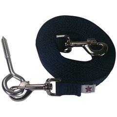 Beast-Master Nylon Dog Tether with Lag Screw-Navy Blue