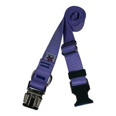 Beast-Master Nylon Dog Collar Metal Hardware-Lavender