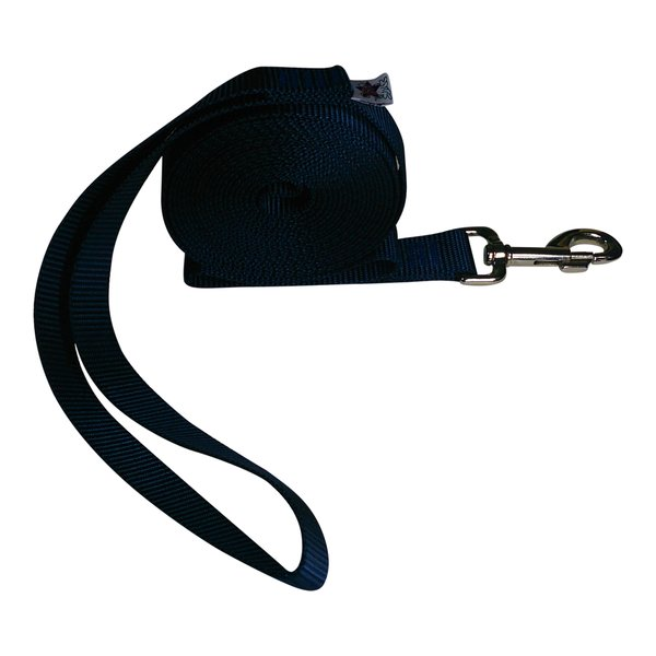 "Beast-Master 1"" Nylon Dog Leash Navy Blue"