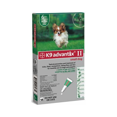Flea and Tick Control for Dogs Under 10 lbs 6 Month Supply