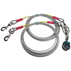 Freedom Aerial Dog Run™ Tangle Free Double Dog Lead Lines Standard Duty FADR-DD15SD