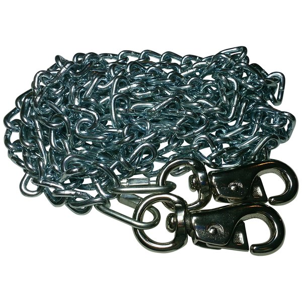 Beast-Master 2/0 Twist Link Tie-Out Chain with Cattle Snaps Heavy Duty Big Dogs