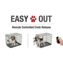 Remote Pet Cage Door Opener Double Latch