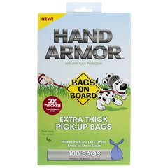 Hand Armor Pick-Up Bags with Anti-Yuck Protection 100 Count