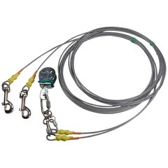 Freedom Aerial Dog Run™ Tangle Free Double Dog Lead Lines Light Duty FADR-DD15LD