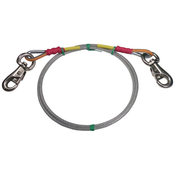 Freedom Aerial Dog Run Replacement Lead Line Cable Super Heavy Duty FADR-100SHD-RLL