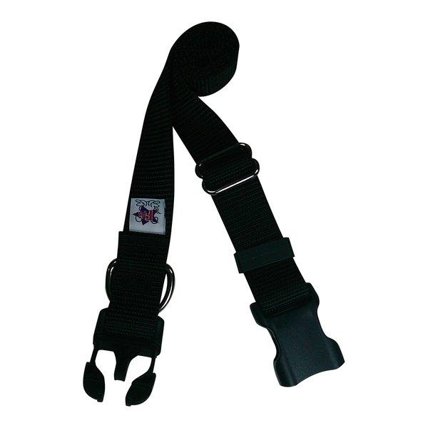 Beast-Master Nylon Dog Collar Plastic Hardware-Black