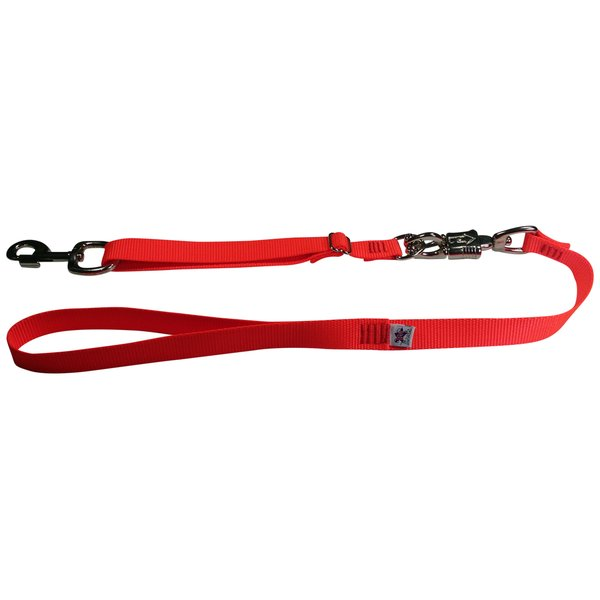 Tactical Quick Release Heavy Duty Panic Snap Adjustable Dog Leash Flamin' Orange