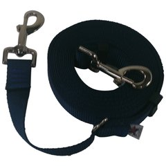 "Beast-Master Adjustable 1"" Nylon Dog Tether (Medium Dogs) Navy Blue"