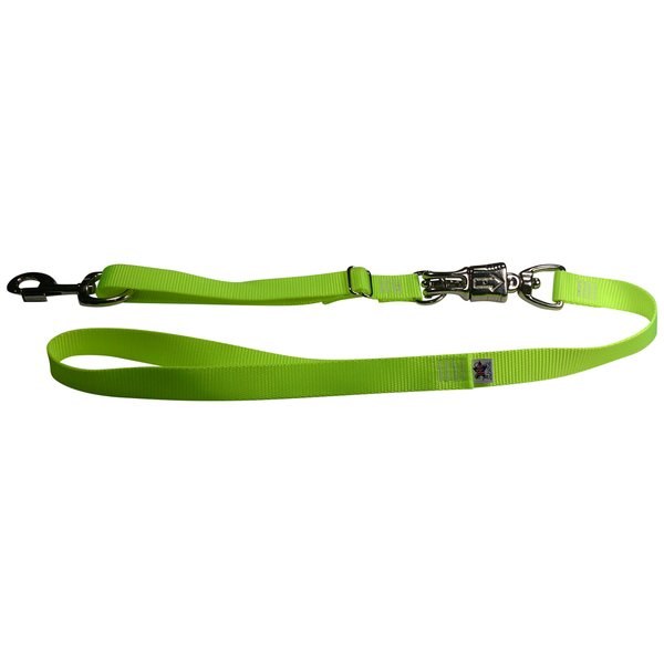 Tactical Quick Release Heavy Duty Panic Snap Adjustable Dog Leash Screamin' Yellow