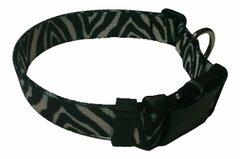 Beast-Master Polyester Dog Collar Zebra Print