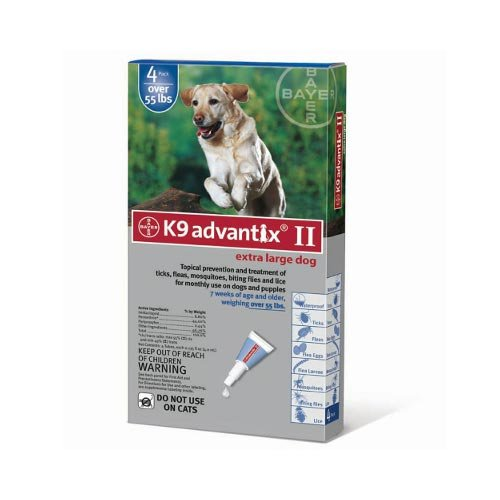 Flea and Tick Control for Dogs Over 55 lbs 4 Month Supply