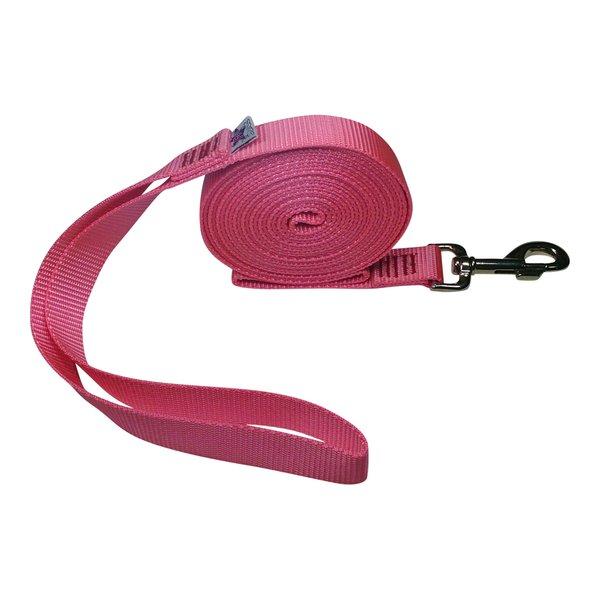 """Beast-Master 1"""" Nylon Dog Leash Pink"""