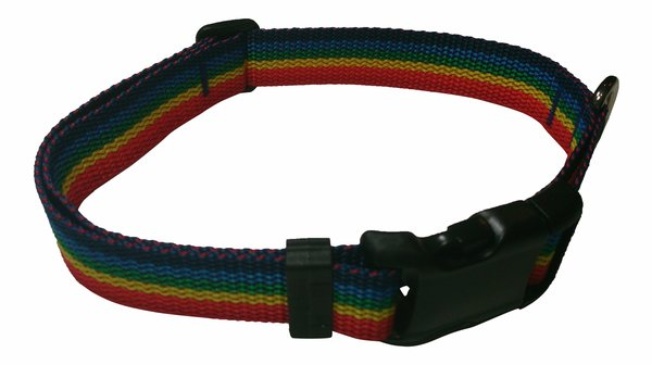Beast-Master Polypropylene Dog Collar Rainbow Spectrum