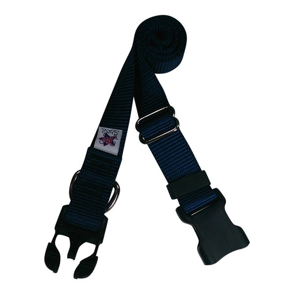 Beast-Master Nylon Dog Collar Plastic Hardware-Navy Blue