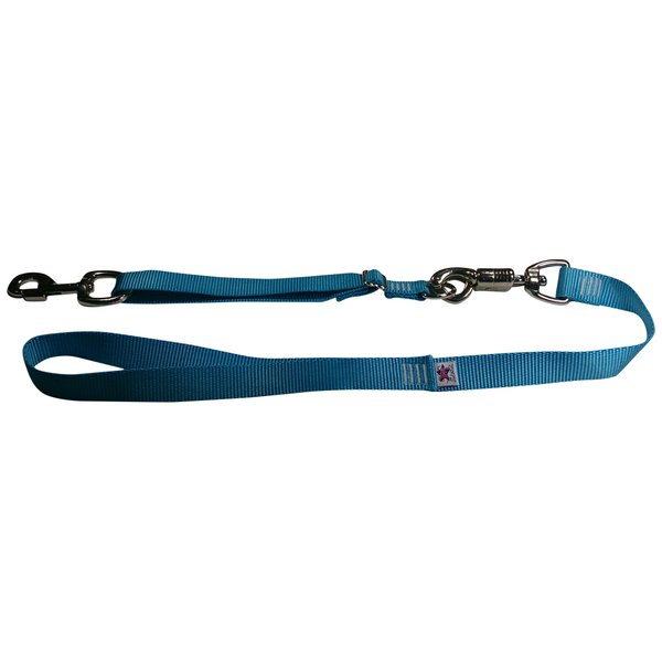 Tactical Quick Release Heavy Duty Panic Snap Adjustable Dog Leash Ice Blue