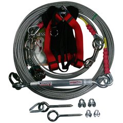 Freedom Aerial Dog Run™ With Harness Heavy Duty FADR-100HD-L-CH