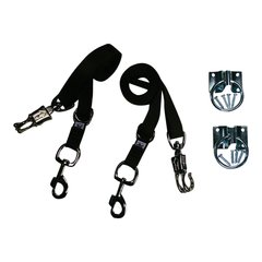 Broncobuster Adjustable Nylon Horse Cross Ties (2) with Hitching Rings Brown