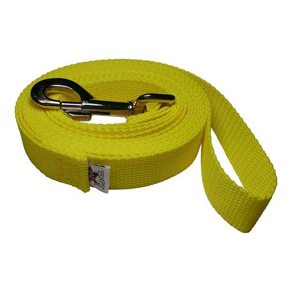 Beast-Master 1 Inch Polypropylene Dog Leash FPS-PP100 Sun Drop Yellow