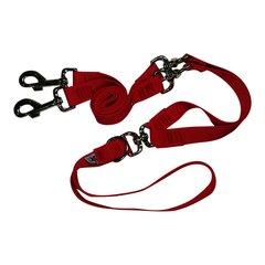 Beast-Master Double Dog Tangle-less Leash BM-PP-DDTL15 Firehouse Red