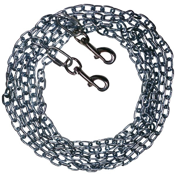 Beast-Master Straight Link Tie-Out Chain with Bolt Snaps Medium Dogs 35 LBS
