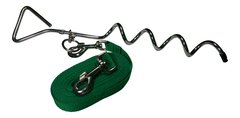 Freedom Ground Run Polypropylene Tie Out Tether with Corkscrew FGR-SDPP Shamrock Green