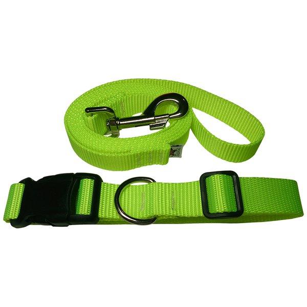 "Beast-Master Neon Dog Collar and Leash Screamin"" Yellow"