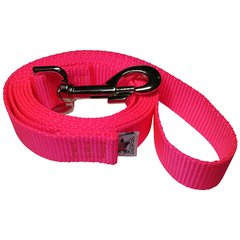 "Beast-Master 1"" Nylon Dog Leash Hot Pink"