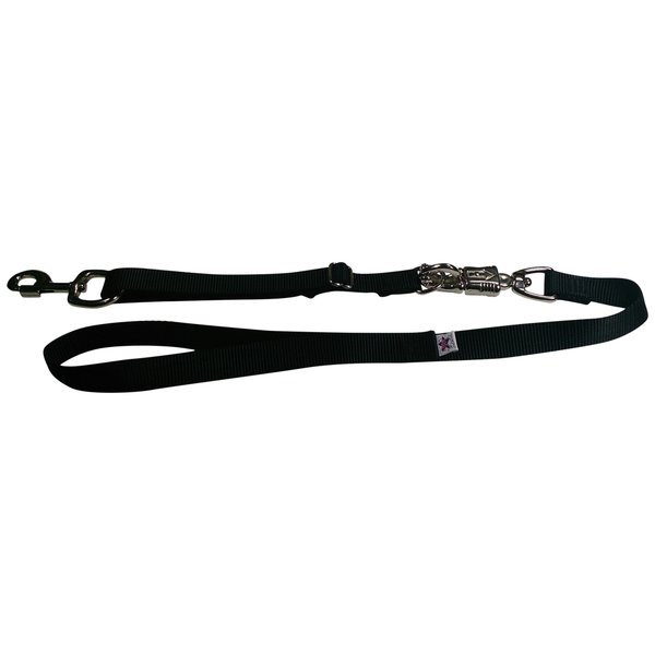 Tactical Quick Release Heavy Duty Panic Snap Adjustable Dog Leash Black