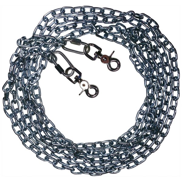 Beast-Master Straight Link Tie-Out Chain with Trigger Snaps Medium Dogs