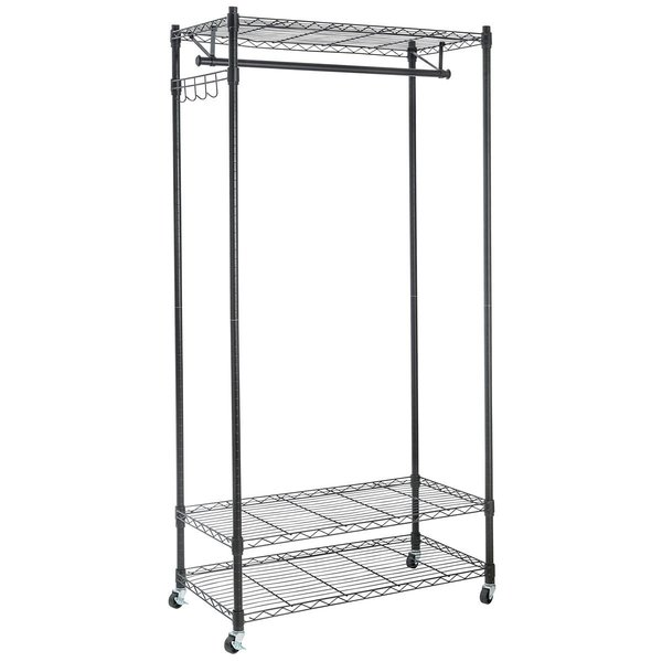support lg brace with heavy duty racks doublev v garment rack double bar