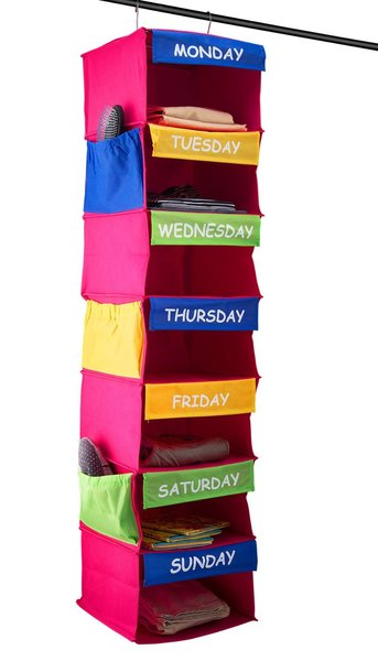 Sagler DAILY ACTIVITY ORGANIZER Kids 7 Shelf Portable Closet Hanging Organizer Great Solutions