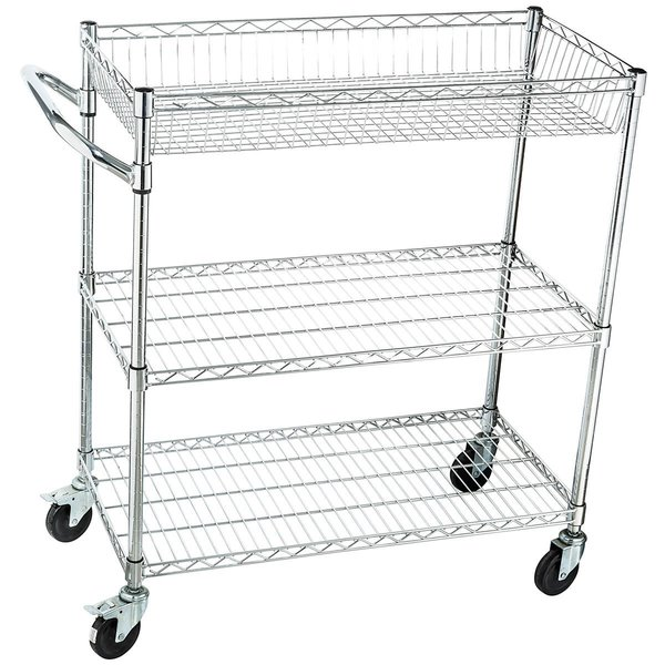 Industrial Rolling Kitchen Cart: Home-it Rolling Utility Cart On Wheels Heavy-Duty