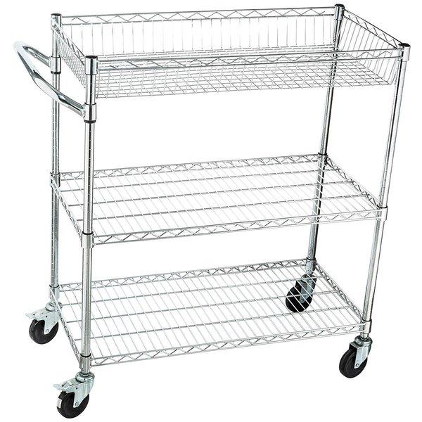 Home-It Rolling Utility Cart On Wheels Heavy-Duty Commercial-Grade