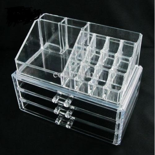 Homeit Clear Acrylic Cosmetic Holder Large Drawer Jewerly Ches - Acrylic makeup organizer