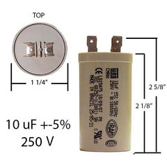 weg motor run capacitor weg capacitor weg run capacitor weg 10 mfd 250 vac motor run capacitor