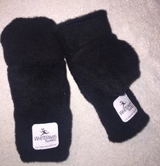 One Ply Velour Running Mittens, One Size