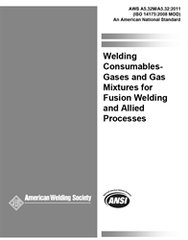 AWS- A5.32/A5.32M:2011 Welding Consumables - Gases and Gas Mixtures for Fusion Welding and Allied Processes