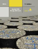 MS-2 Asphalt Mix Design Methods