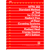 NFPA-253(15): Standard Method of Test for Critical Radiant Flux of Floor Covering Systems Using a Radiant Heat Energy Source