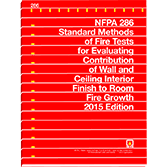 NFPA-286(15): Standard Methods of Fire Tests for Evaluating Contribution of Wall and Ceiling Interior Finish to Room Fire Growth