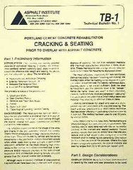 AI-TB-1 Cracking & Seating: Portland Cement Concrete Rehabilitation Prior to Overlay with Asphalt Concrete