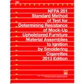 NFPA-261(13): Standard Method of Test for Determining Resistance of Mock-Up Upholstered Furniture Material Assemblies to Ignition by Smoldering Cigarettes