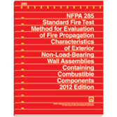 NFPA-285(12): Standard Fire Test Method for Evaluation of Fire Propagation Characteristics of Exterior Non-Load-Bearing Wall Assemblies Containing Combustible Components