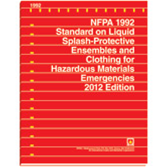 NFPA-1992(12): Standard on Liquid Splash-Protective Ensembles and Clothing for Hazardous Materials Emergencies